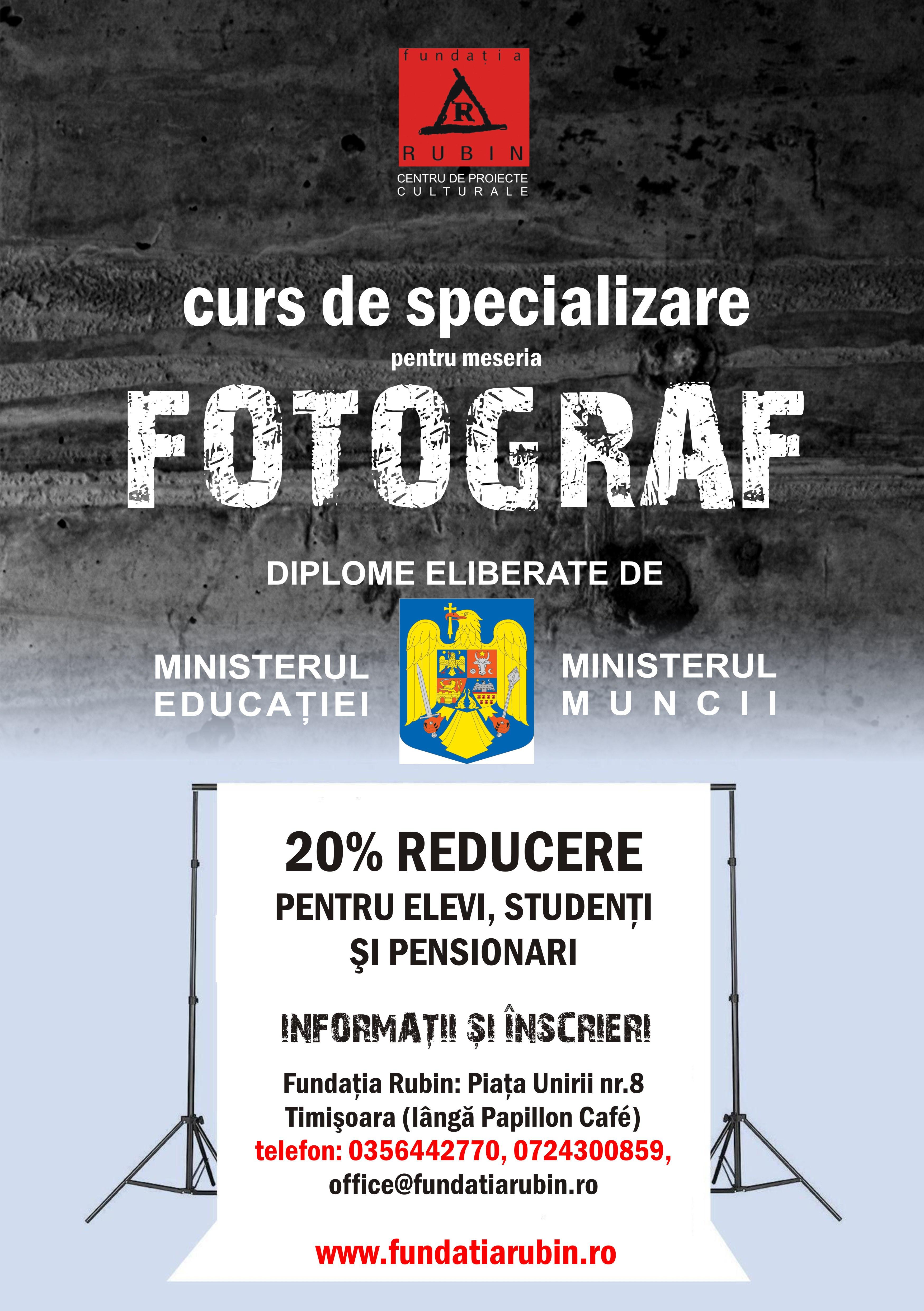 Curs Fotografie Timisoara - Acreditat CNFPA